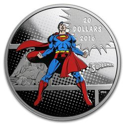 2016 $20 Canada Man of Steel 1 oz Silver Coin