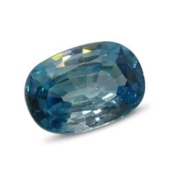 4.02ct Oval Blue Zircon Gemstone