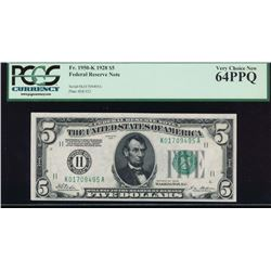 1950K $5 Dallas Federal Reserve Note PCGS 64PPQ