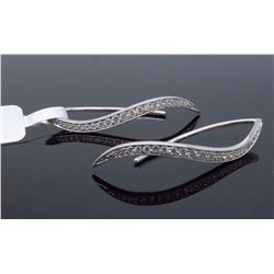 14KT White Gold 0.45ctw Diamond Earrings