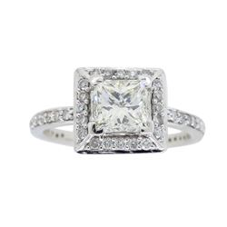 14KT White Gold 1.01ct Diamond Ring