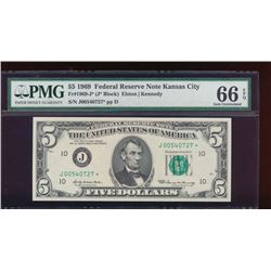 1969 $5 San Francisco Federal Reserve Note PMG 66EPQ