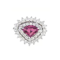 14KT White Gold 1.50ct Pink Sapphire and Diamond Ring