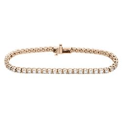 18KT Rose Gold 5.00ctw Diamond Tennis Bracelet