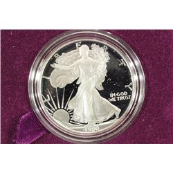 1990-S PROOF AMERICAN SILVER EAGLE