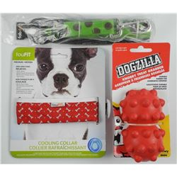 Lot (3) Dog Accessories - Dogzilla, Collar and 5 F
