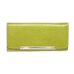 Pelle Borsa Green Pebbled Leather Long Wallet