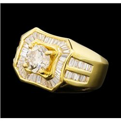 2.79 ctw Diamond Ring - 18KT Yellow Gold