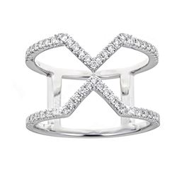 0.43 ctw Diamond Ring - 18KT White Gold
