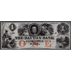 1850's $1 The Daytona Bank Obsolete Note