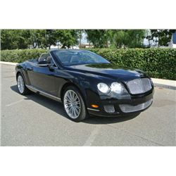2010 Black Bentley Continental GT Convertible