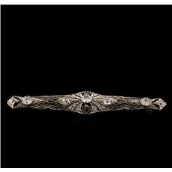 Platinum 1.70 ctw Diamond Brooch
