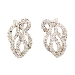 1.2 ctw Diamond Earrings - 18KT White Gold