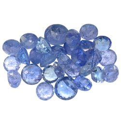 18.66 ctw Round Mixed Tanzanite Parcel