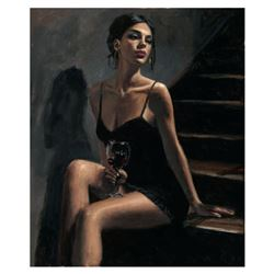 Girl with Red at Stairs II by Perez, Fabian