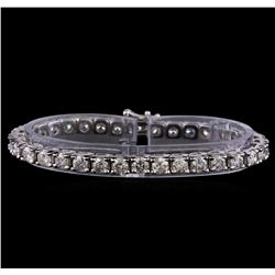 10.35 ctw Diamond Tennis Bracelet - 14KT White Gold