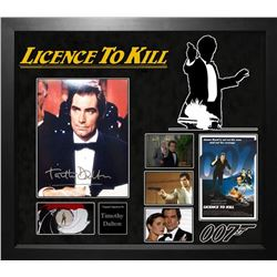 License to Kill Framed Signed Photo Collage