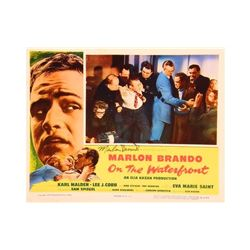 Marlon Brando Signed On the Waterfront Lobby Card