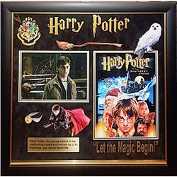 Daniel Radcliffe Signed and Framed Harry Potter Photo Collage