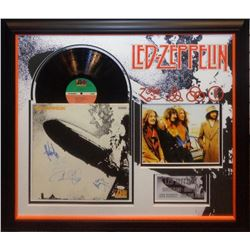 Led Zeppelin Signed and Framed Led Zeppelin 1 Album