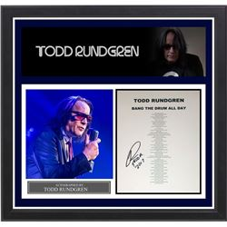 "Tod Rundgren Signed ""Bang the Drum All Day"" Lyrics"