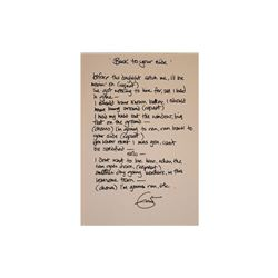 Eric Clapton Signed Back to Your Side Lyrics