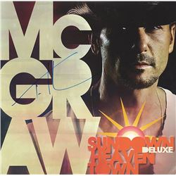 Tim McGraw Signed Sundown Heaven Town Album