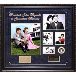 John F. Kennedy and first lady, Jacqueline Kennedy Autographed Collage