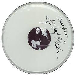 Johnny Cash Signed Drum Head