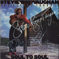 Stevie Ray Vaughan Signed Soul to Soul Album