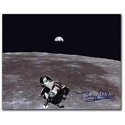 Buzz Aldrin Signed Earthrise Photo