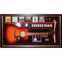 Steely Dan Signed and Framed Acoustic Guitar