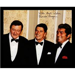 Photo of Ronald Reagan, John Wayne and Dean Martin, signed With Best Wishes, Ronald Reagan