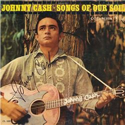Johnny Cash Signed Songs of Our Soul Album