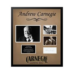 Andrew Carnegie Autographed Collage