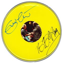 Eric Clapton & B.B. King Signed Drum Head
