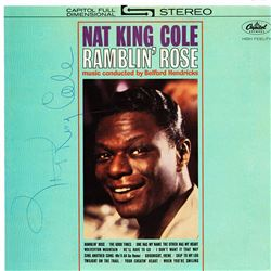Nat King Cole Signed Ramblin Rose Album