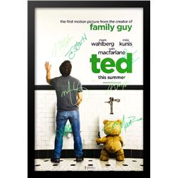 Ted - Signed Movie Poster in Wood Frame with COA
