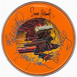 Judas Priest Signed Drum Head
