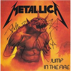 Metallica Signed Jump In the First Album