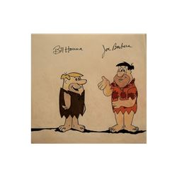 Hanna and Barbera Signed Flintstones Drawing