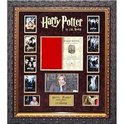 J.K. Rowling Signed and Framed Harry Potter Title Page