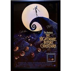 Nightmare Before Christmas - Signed Movie Poster