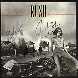 Rush Signed Permanent Waves Album