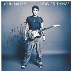 John Mayer Signed Heavier Things Album