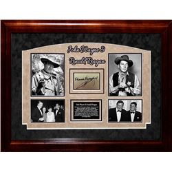 John Wayne and Ronald Regan Signed Collage