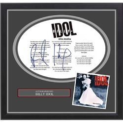 Billy Idol Signed White Wedding Lyrics