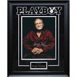 Hugh Hefner Autographed Collage