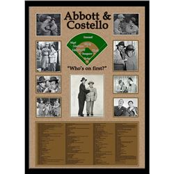 Abbot & Costello Signed Collage