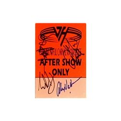 Van Halen Signed Back Stage Pass